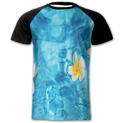 Newfood Ss Tropical Frangipani Flower Floating in Water Pool Summertime Ecofriendly Lifestyles Men's Short Sleeve Raglan T XL - Case Baby Doc Knife