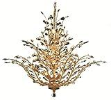 Christelle Gold Modern 18-Light Grand Chandelier Heirloom Grandcut Crystal in Crystal (Clear)-6898G41G-EC--41