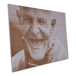 Wogenfels - Mural de madera Ceiba (55 x 36,7 cm) | Grabar tu ...