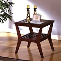 Virigina Beach Virginia End Table in Dark Cherry Finish by Furniture of America