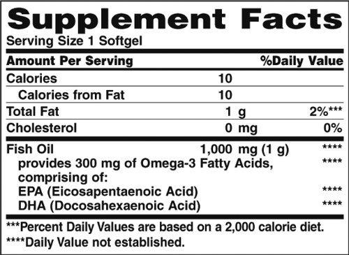 Nature's Bounty Fish Oil, 1000 Mg 250 Softgels