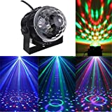 Led RGB Party Projector Light DJ Disco Club Magic Ball Stagelamp Spotlight Control Light Effect Bulb Stage Lighting (Stage Light USB Car Charger)