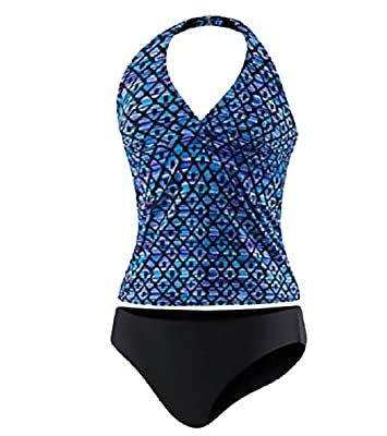 Speedo Womens Halter Top Tankini Swimsuit Size 8