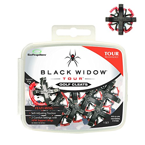 Softspikes Black Widow Tour Q-Fit Cleat Kit