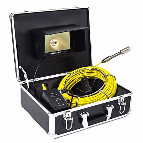 Topwill 7 Inch Tft Color Sewer Pipe Inspection Camera System Pipe Inspection Camera  Drain Sewer Industrial Endoscope 12 Led Lights 20M Fiberglass Cable