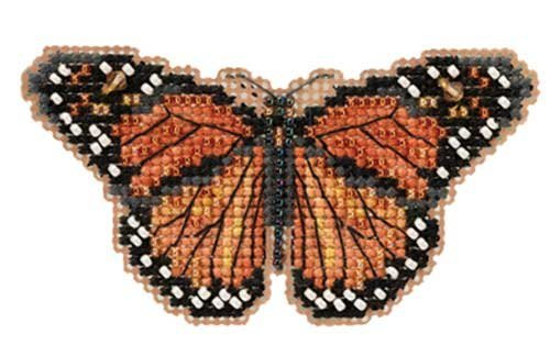 Monarch Butterfly Beaded Counted Cross Stitch Ornament Kit Mill Hill 2012 Spring Bouquet MH18-2105