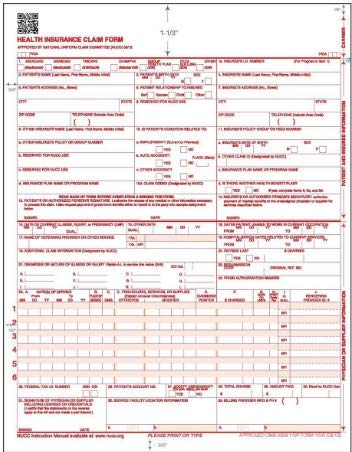 HCFA 1500 Forms 2018 (Pack of 500) – CMS 1500 Forms for Tax 2018 – Health Insurance Claim Form, Medicare Claims for Taxes – CMS 1500 Claim Forms 02/12