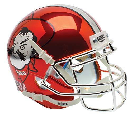 NCAA Oklahoma State Cowboys Orange Chrome Mini Helmet, One Size, White ()