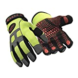 RefrigiWear HiVis Super Grip High Performance Work Gloves (High Visibility Lime, X-Large)