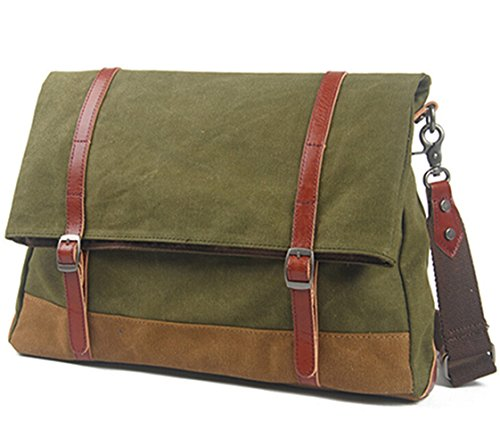 Men's Casual Messenger Bag Cross Body Bag Army Green