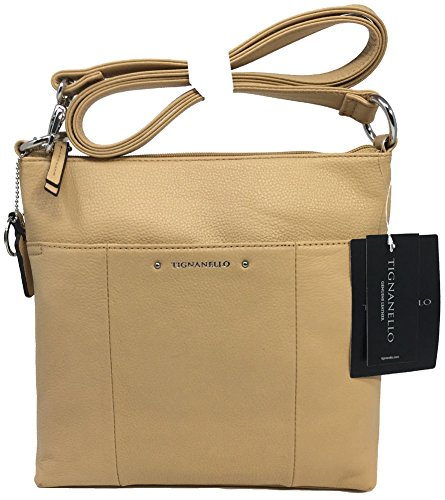 Tignanello Bella Large Cross Body, Dune, T59205A (Tignanello Leather Genuine)