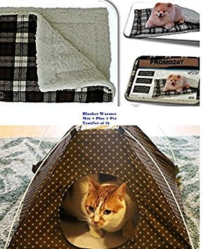 Portable Tent Bed for Pets With Cushion Warmer Mat Sleep Dog Cat Crate House  Winter Warm Cozy Soft Comfort Dog Cot Canopy Camping Bed Pop Up Holiday  Season  Winter Cat House  Amazon com. Outdoor Cat House Winter Warmer. Home Design Ideas