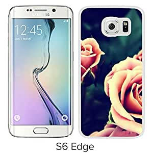 New Beautiful Custom Designed Cover Case For Samsung Galaxy S6 Edge With Vintage Pink Roses Closeup (2) Phone Case