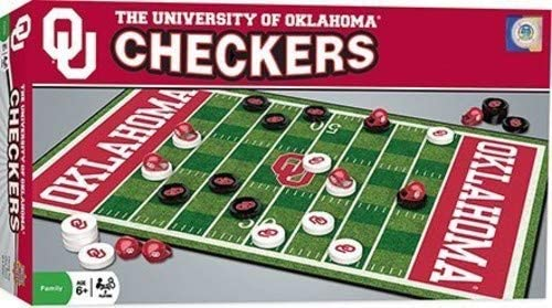 MasterPieces NCAA Oklahoma Sooners Checkers Board Game