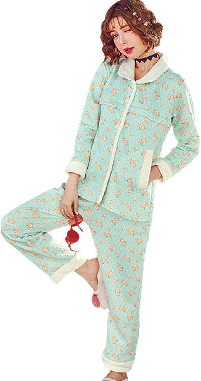 DAZISEN Conjunto de Pijamas de Maternidad para Mujer - Otoño ...