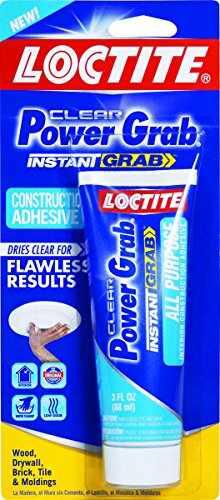 Loctite Power Grab Express All Purpose Construction Adhesive, 3 Ounce Squeeze Tube - Construction Grab Power Adhesive