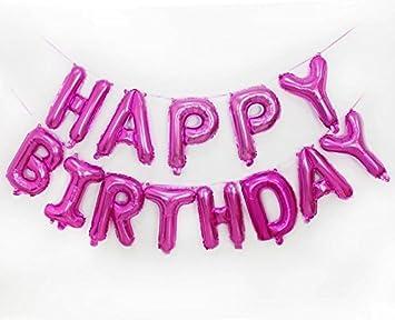 Amazon.com: Globos de feliz cumpleaños alfabeto – Carta ...