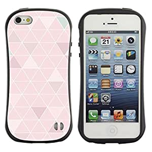 Paccase / Suave TPU GEL Caso Carcasa de Protección Funda para - polygon pattern art peach white lines - Apple Iphone 5 / 5S