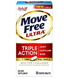 Move Free Ultra UC-II Collagen and Hyaluronic Acid Joint Supplement, 30 Count (Pack of 3)