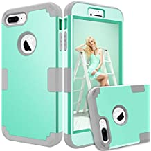 "iPhone 8 Plus Case, AOKER [New] [Drop Protection] [Anti-scratch] Three Layer Heavy Duty High Impact Resistant Shockproof Full-Body Protective Case for iPhone 8 Plus (5.5"") (Mint Grey 2)"