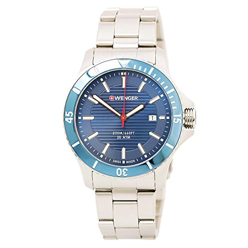 Wenger-Mens-Seaforce-Swiss-Quartz-Stainless-Steel-Casual-Watch-ColorSilver-Toned-Model-010641120