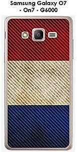 Carcasa Samsung Galaxy O7–On7–G6000Design bandera Francia Vintage efecto carbono