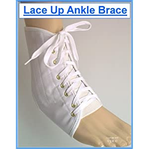 Proline Lace Up Ankle Support Brace – White – Medium