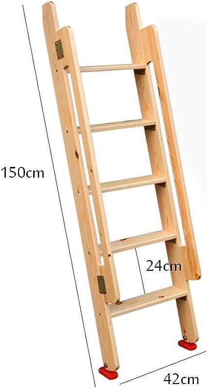 Escalera de madera Loft Interior de la casa Altura 1.5 m Escalera mecánica de madera maciza simple Escalera ascendente Escalera de bunker: Amazon.es: Bricolaje y herramientas