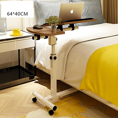 Adjustable Laptop Bed Table, Bed Tray Table, Portable Standing Table, Foldable Legs, Foldable Sofa Breakfast Table (Color : Walnut color) ()