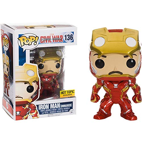 (Funko POP! Marvel Captain America Civil War : Iron Man Unmasked #136 Vinyl)