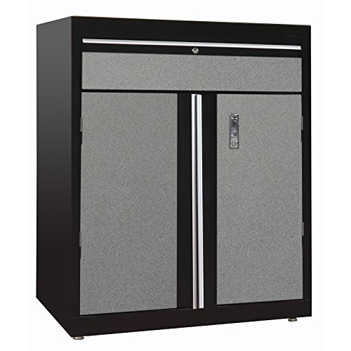 Base Black Modular (Sandusky Lee GADF301836-M9L Modular System Base Storage Cabinet with Drawer, 30
