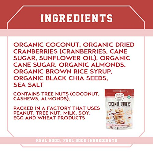 Creative Snacks Naturally Delicious Organic Coconut Snacks with Cranberries and Nuts, 2 Pack, 12 Ounce Resealable Bags by Creative Snacks (Image #1)