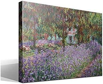 cuadro canvas Lirios en Jardín de Monet de Oscar Claude Monet - 70cm x 95cm