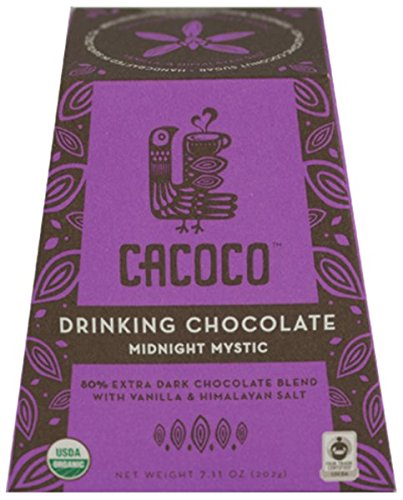 Cocoa Mocha Hot (80% Extra Dark Drinking Chocolate - Certified Organic Hot Cacao / Fair Trade Cocoa - by CACOCO (7.05 ounces))