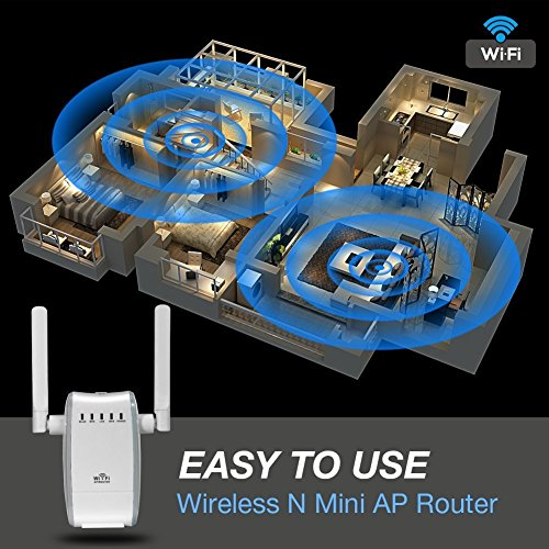 DHMXDC Wireless-N 300Mbps WiFi Range Extender Wireless Router/Repeater/AP/Wps Mini Dual External Antennas Wireless Booster Signal Wireless Access Point by DHMXDC (Image #5)
