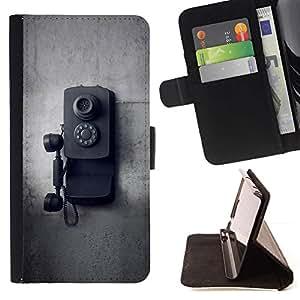 For Samsung Galaxy E5 E500 Case , Old School Vintage Negro Blanco- la tarjeta de Crédito Slots PU Funda de cuero Monedero caso cubierta de piel