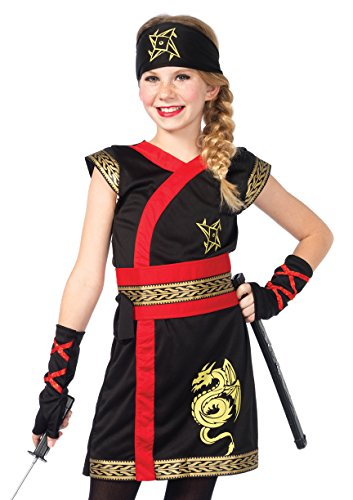 [Leg Avenue Children's Ninja Warrior Costume] (Ninja Halloween Costumes For Girls)