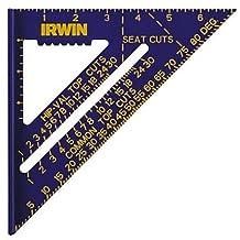 Irwin Tools 1794463 7-Inch Hi-Contrast Aluminum Rafter Square