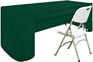 ABCCANOPY 6 FT Rectangle Tablecloth Table Cover for Rectangular Tables in Washable Polyester-Great for Buffet Table Parties Holiday Dinner, Wedding & More (6 FT, Forest Green)
