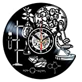 Science Clock Vinyl Record - Chemistry Decor - Chemical Wall Art - Biology Gifts