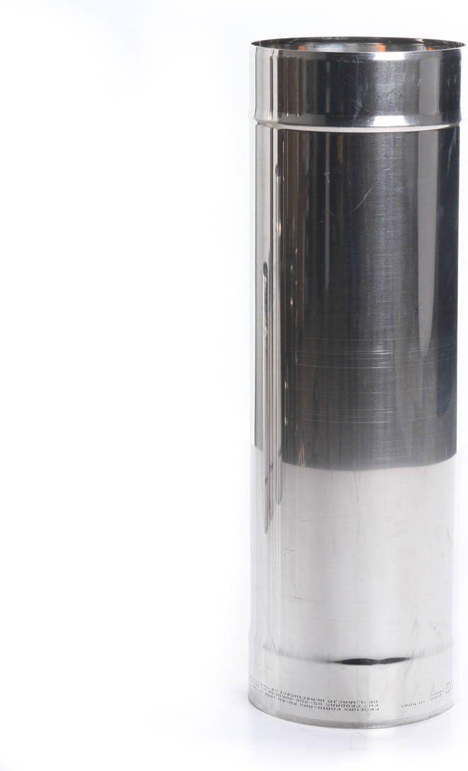 rg-vertrieb Edelstahl Kaminrohr Ofenrohr Rohr Heizung Rauchrohr Schornstein Abgasrohr Sanierung 250mm 330mm 500mm 1000mm Wandst/ärke 0,6mm 80mm-200mm w/ählbar /Ø 80mm, L/änge: 1000mm