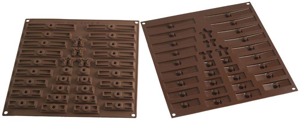 Silikomart 22.151.77.0065 C3D01 Moule pour Chocolat Forme Sapin de Noël Silicone Marron