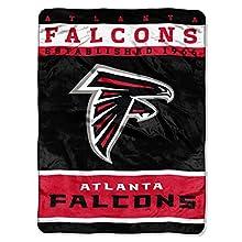NFL Atlanta Falcons Plush Raschel Blanket, 60 x 80-Inch, Red