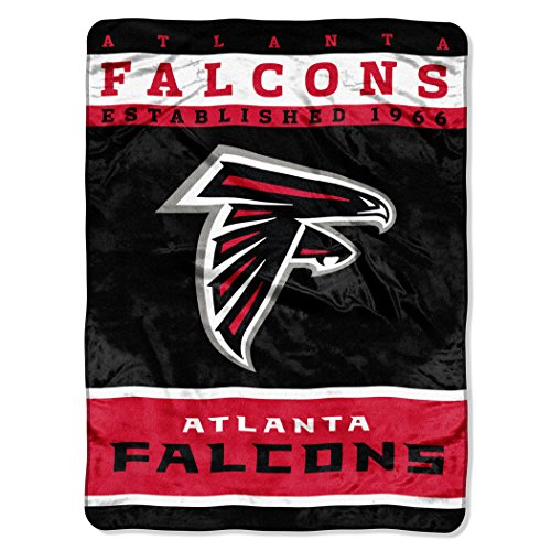 "The Northwest Company Officially Licensed NFL Atlanta Falcons 12th Man Plush Raschel Throw Blanket, 60"" x 80"""