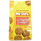 Mi-Del, Swedish Style Ginger Snaps, 10 Ounce Bags (Pack of 12) by Mi-Del
