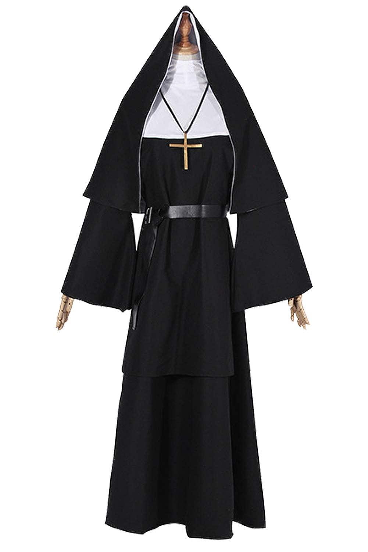 Disfraz De Monja para Mujer Pastor Cosplay Traje De ...