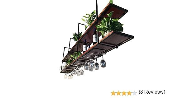 Soporte de Flores Tipo Techo Retro Soporte de Pared Colgante de Madera Maciza Soporte de Techo suspendido Racks de Vino comerciales y caseras (Tamaño : 120×30×80cm): Amazon.es: Jardín