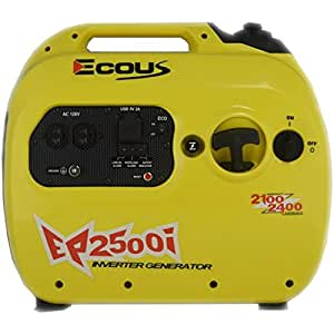 Ecous EP2500i Inverter Generator , EPA and Carb Compliant, Parallel
