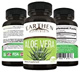 Organic Aloe Vera Supplement Equivalent to 20,000mg- RAW All Natural Non-GMO 120 Capsules