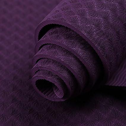 Amazon.com : 6MM Yoga mat green tasteless non-slip Yoga mat ...